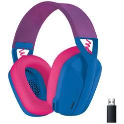 Logitech G435 LIGHTSPEED herný headset s Bluetooth, s USB bezdrôtový cez uši modrá