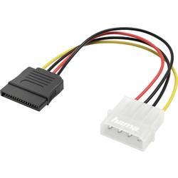 Napájací prepojovací kábel Hama 00200353, [1x IDE prúdová zásuvka 4-pólová - 1x SATA zástrčka 7-pólová], 0.15 m, čierna, žltá, červená