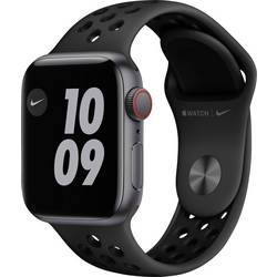 Image of Apple Watch Nike SE 40 mm GPS + Cellular Aluminiumgehäuse Grau Sportarmband Schwarz