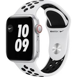 Image of Apple Watch Nike SE 40 mm GPS + Cellular Aluminiumgehäuse Silber Sportarmband Weiß