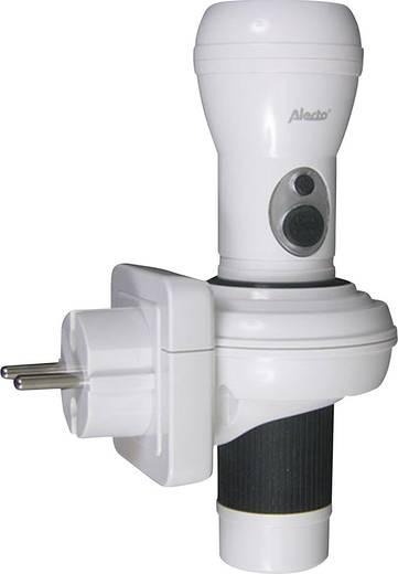 LED Taschenlampe Alecto ATL-120W netzbetrieben, batteriebetrieben Weiß