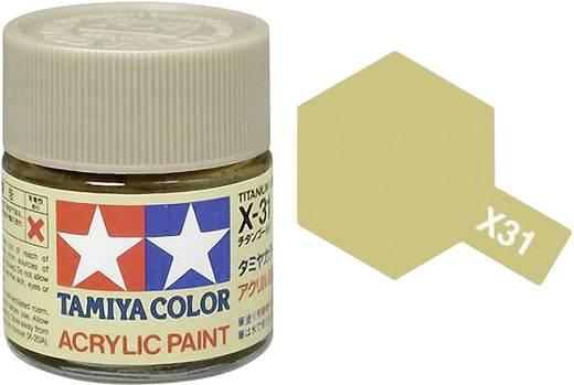 Tamiya Acrylfarbe Titanium-Gold Farbcode: X-31 Glasbehälter