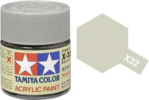 Tamiya Acrylfarbe Titanium-Silber Farbcode: X 32 Glasbehälter