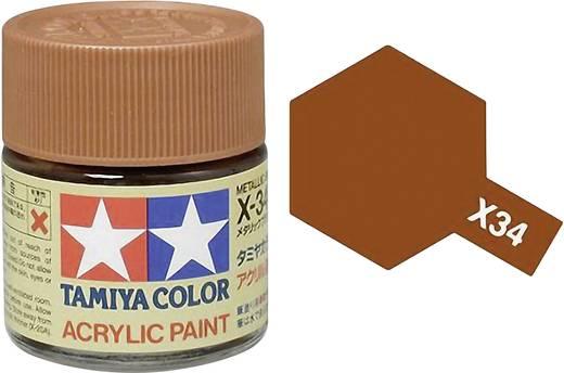 Tamiya Acrylfarbe Braun (metallic) Farbcode: X-34 Glasbehälter