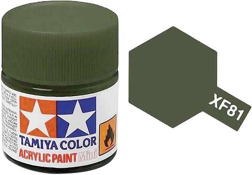Tamiya Acrylfarbe Dunkel-Grün RAF Farbcode: XF-81 Glasbehälter 10 ml