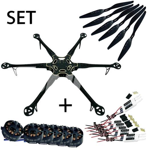 Black Pearl RC DIY Frame Longflight Editioon 800mm 6S Hexacopter SET