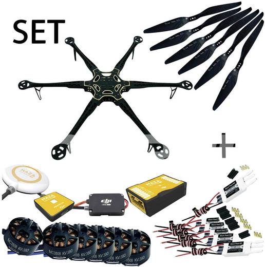 Black Pearl RC DIY Frame Longflight Editioon 800mm 6S & DJI NAZA V2 inkl. GPS Hexacopter SET
