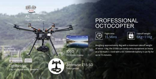 DJI S1000+ PLUS Octocopter Bausatz & A2 & Z15 für Panasonic GH4 SET