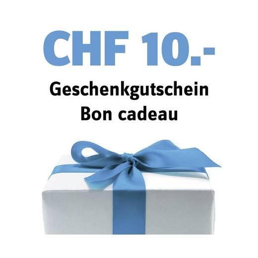 Geschenk-Gutschein im Wert von 10 CHF