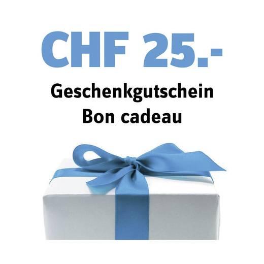 Geschenk-Gutschein im Wert von 25 CHF