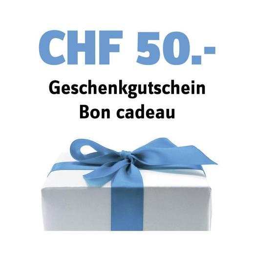 Geschenk-Gutschein im Wert von 50 CHF