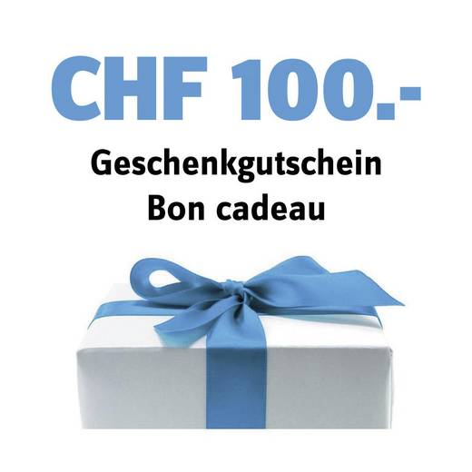 Geschenk-Gutschein im Wert von 100 CHF