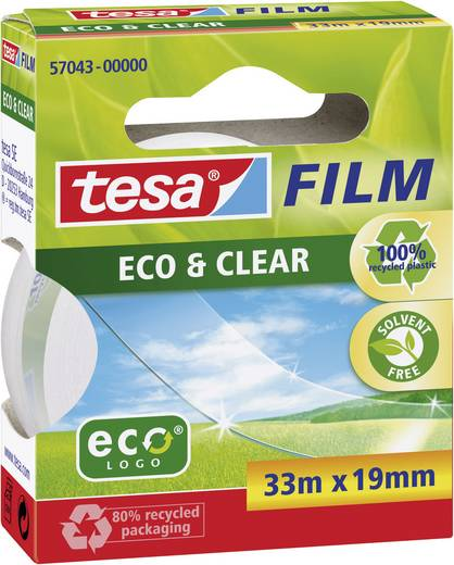 tesafilm tesafilm Eco&Clear (L x B) 33 m x 19 mm tesa 1 Rolle(n)