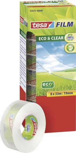 tesafilm tesafilm Eco&Clear 8RL (L x B) 33 m x 19 mm tesa 8 Rolle(n)