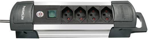 Brennenstuhl 1391002014 Steckdosenleiste mit Schalter 4fach Schwarz/Silber CH-Stecker