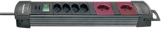 Brennenstuhl 6002086 Steckdosenleiste mit Schalter 6fach Bordeaux, Schwarz CH-Stecker