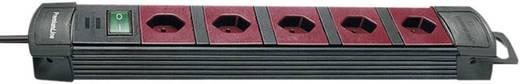 Brennenstuhl 6002085 Steckdosenleiste mit Schalter 5fach Schwarz, Bordeaux CH-Stecker