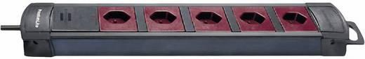 Brennenstuhl 8002085 Steckdosenleiste ohne Schalter 5fach Schwarz, Bordeaux CH-Stecker