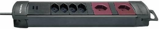 Brennenstuhl 8002086 Steckdosenleiste ohne Schalter 6fach Schwarz, Bordeaux CH-Stecker