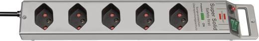 Brennenstuhl 1153342315 Überspannungsschutz-Steckdosenleiste 5fach Silber CH-Stecker