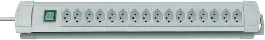 Brennenstuhl 6552026 Steckdosenleiste mit Schalter 16fach Lichtgrau CH-Stecker