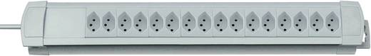 Steckdosenleiste ohne Schalter Premium Line 16fach Grau