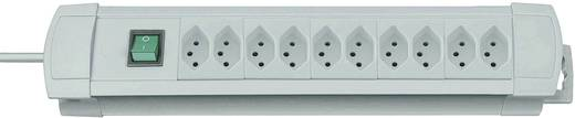 Premium-Line Steckdosenleiste 10fach Grau mit Schalter