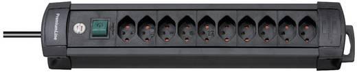 Premium-Line 10fach Schwarz Steckdosenleiste mit Schalter