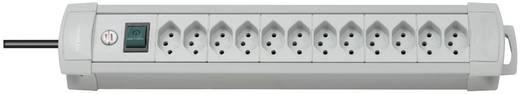 Steckdosenleiste mit Schalter Premium Line 12fach Grau