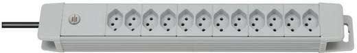 Brennenstuhl 8552022 Steckdosenleiste ohne Schalter 12fach Lichtgrau (RAL 7035) CH-Stecker