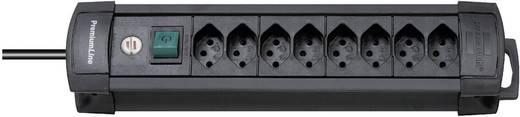 Premium Line Steckdosenleiste 8fach Schwarz mit Schalter