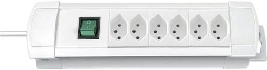 Brennenstuhl 6222016 Steckdosenleiste mit Schalter 6fach Weiß (matt) CH-Stecker