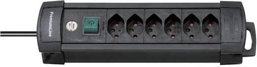 Premium Line Steckdosenleiste 6fach Schwarz mit Schalter