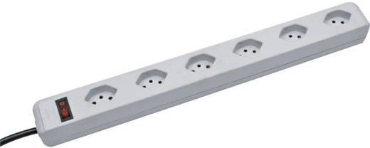 Brennenstuhl 1159552 Steckdosenleiste mit Schalter 6fach Lichtgrau (RAL 7035) CH-Stecker