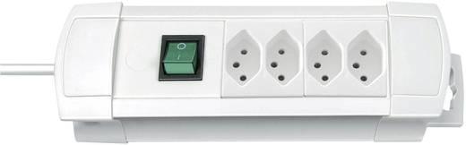 Premium Line Steckdosenleiste 4fach Weiss mit Schalter