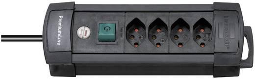 Premium Line Steckdosenleiste 4fach Schwarz mit Schalter