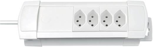 Premium Line Steckdosenleiste 4fach Weiss ohne Schalter
