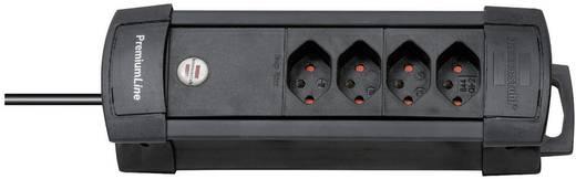 Premium Line Steckdosenleiste 4fach Schwarz ohne Schalter