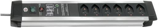 Brennenstuhl 1391002604 Überspannungsschutz-Steckdosenleiste 6fach Schwarz, Silber CH-Stecker