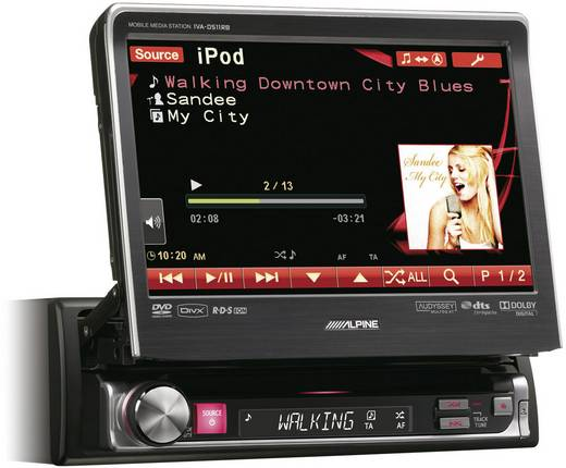 moniceiver alpine car audio iva d511rb anschluss f r. Black Bedroom Furniture Sets. Home Design Ideas