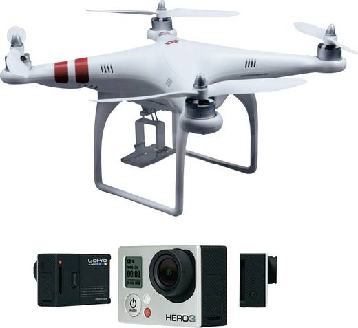 SET DJI Phantom & GOPRO HERO3 Silver