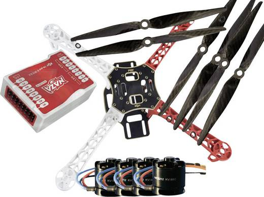 DJI F450 PRO KIT inkl. DJI NAZA-M & MC2212er Motoren & Carbon Props SET 2