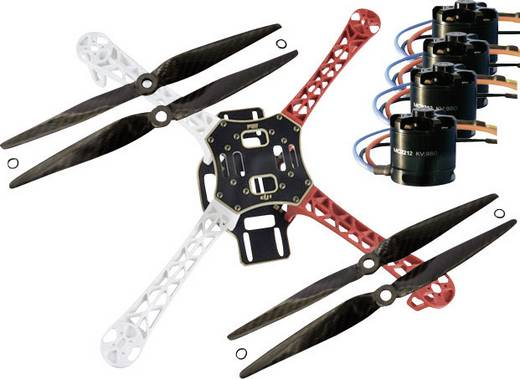 DJI F450 PRO KIT inkl. MC2212er Motoren & DJI Regler & Carbon Props Quadrocopter