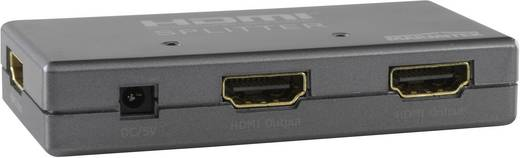 2 Port HDMI-Splitter Marmitek Split 312 mit eingebautem Repeater 1920 x 1080 Pixel Silber