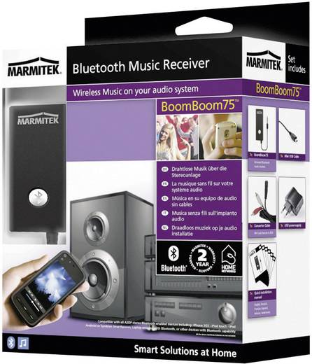 Bluetooth® Musik-Empfänger Marmitek BoomBoom 75 Bluetooth Version: 2.1, A2DP 10 m