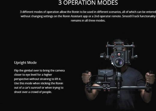 DJI Ronin Steady Cam System Kamerahalterung DJIRG001 inkl. 2. Akku nur solange der Vorrat reicht!