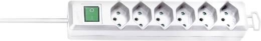 Brennenstuhl 1159462626 Steckdosenleiste mit Schalter 6fach Weiß CH-Stecker