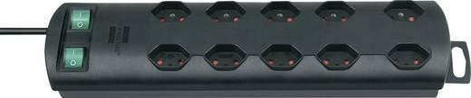 Primera-Line Technik Steckdosenleiste mit Schalter 10fach Schwarz 2m Brennenstuhl