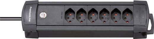 Brennenstuhl 5112026 Steckdosenleiste ohne Schalter 6fach Schwarz CH-Stecker