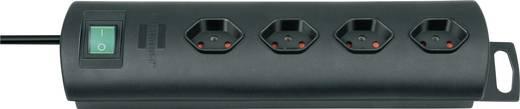 Primera-Line Steckdosenleiste mit Schalter 4fach Schwarz 1.5m Brennenstuhl